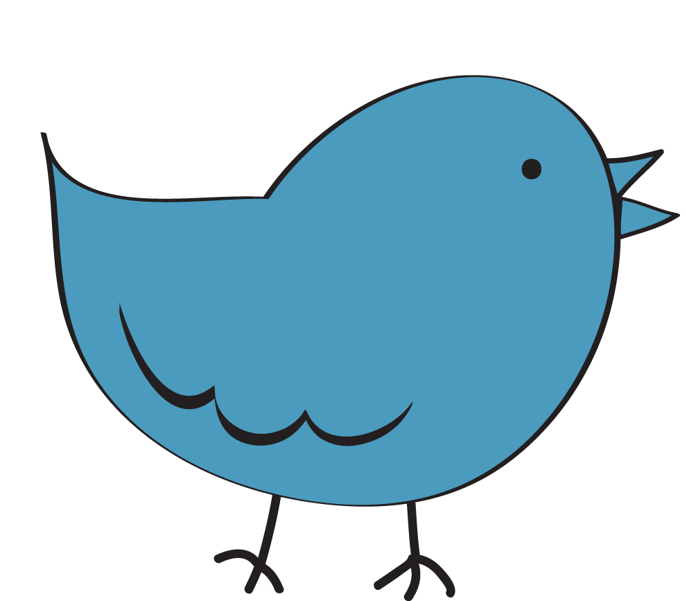 Bird clipart image clip art cartoon of a blue bird standing up 2