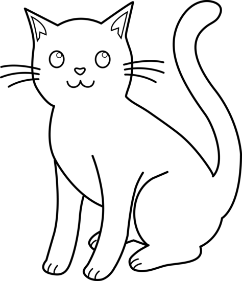 Cat clip art black and white free clipart images 3