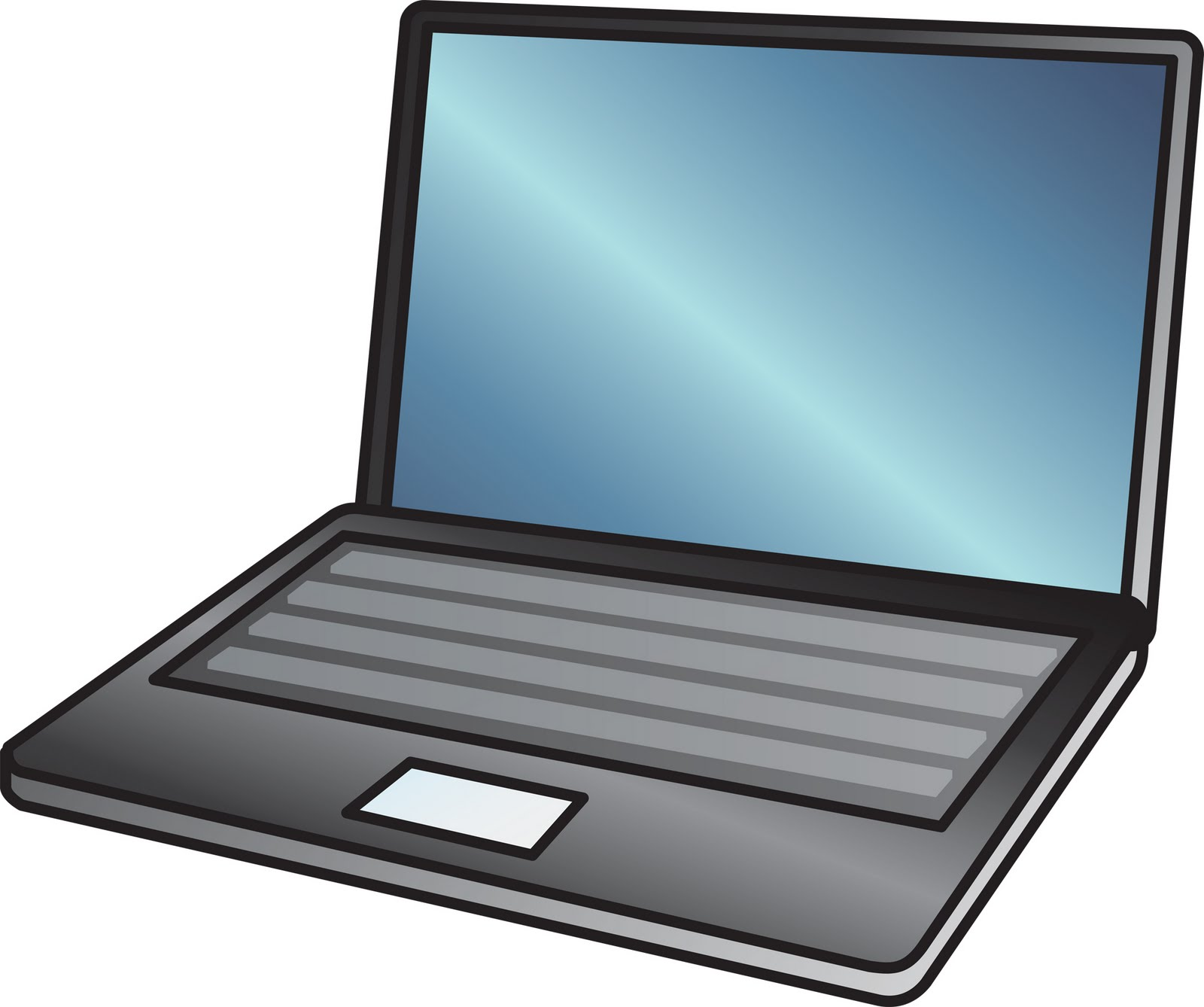 Computer cartoon laptopputer clipart
