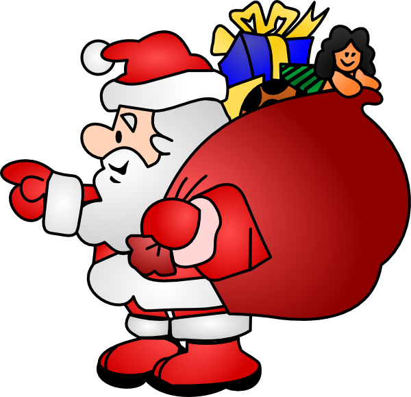 Transparent Santa With Rudolph Clipart Cliparting Com