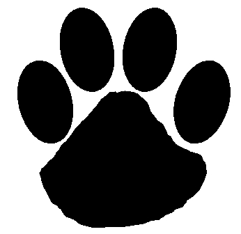 Dog paw print stamps dog dog paw prints dog clip art clipartcow 2