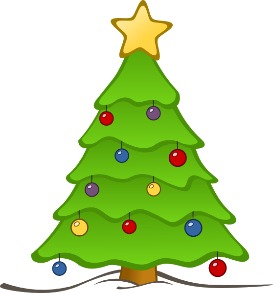 Free christmas tree clip art borders free