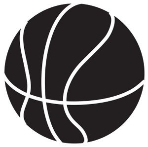 Girls basketball clipart black and white free