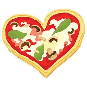 Heart clip pizza cliparts