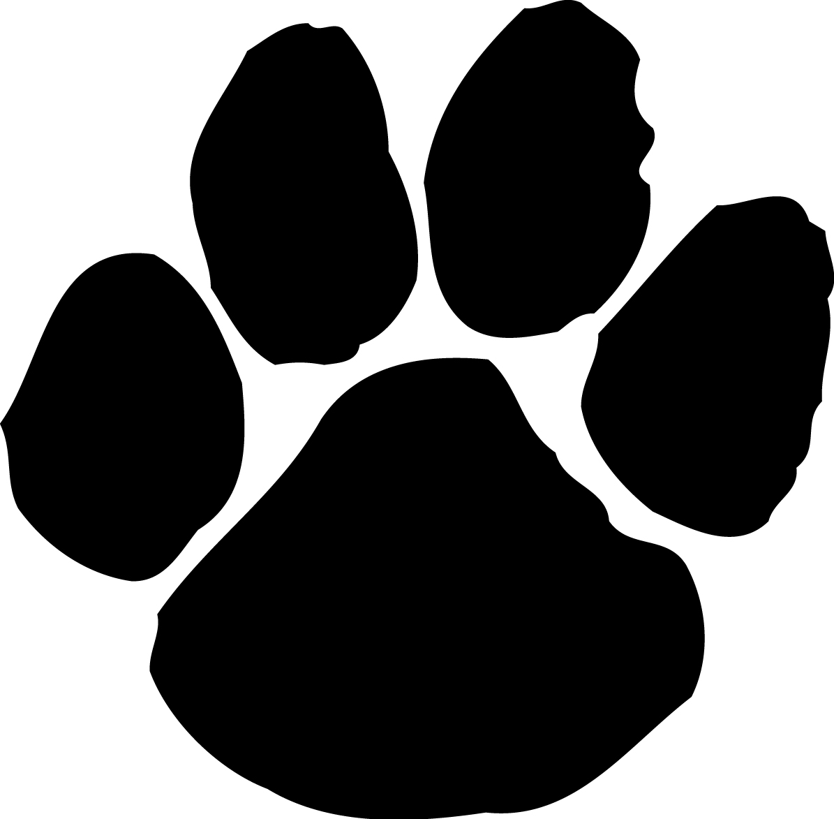 Paw print wildcats on dog paws dog paw tattoos and clip art image 6