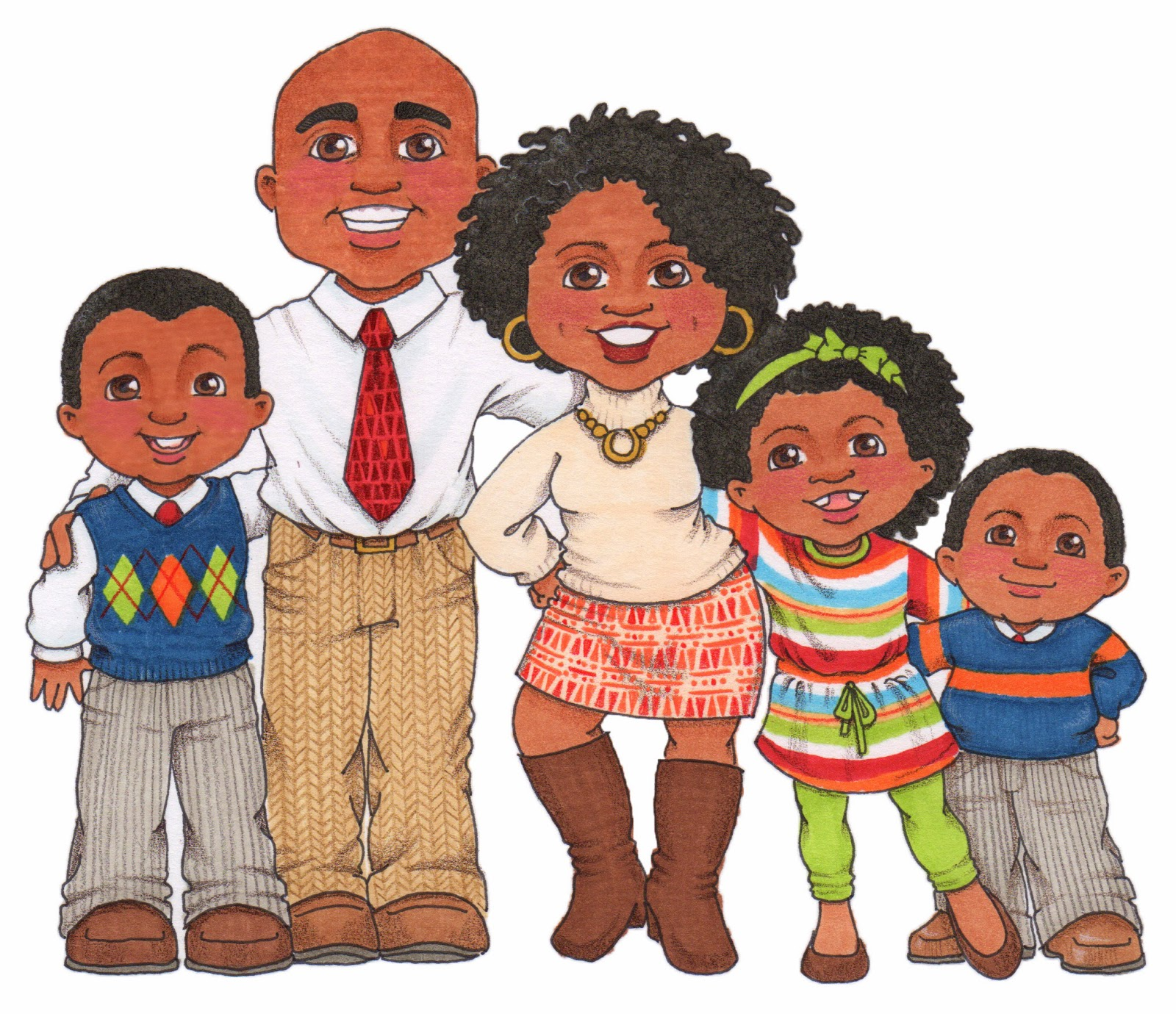 Photos of african american clip art family african