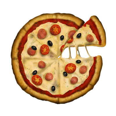 Pizza toppings clip art clipart