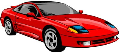 Red sports car clipart clipart