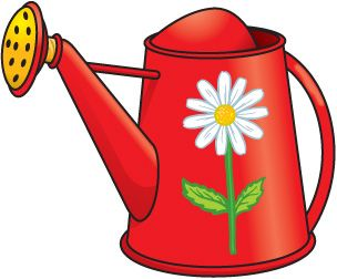 Spring watering can clip art holidays and celebrations images