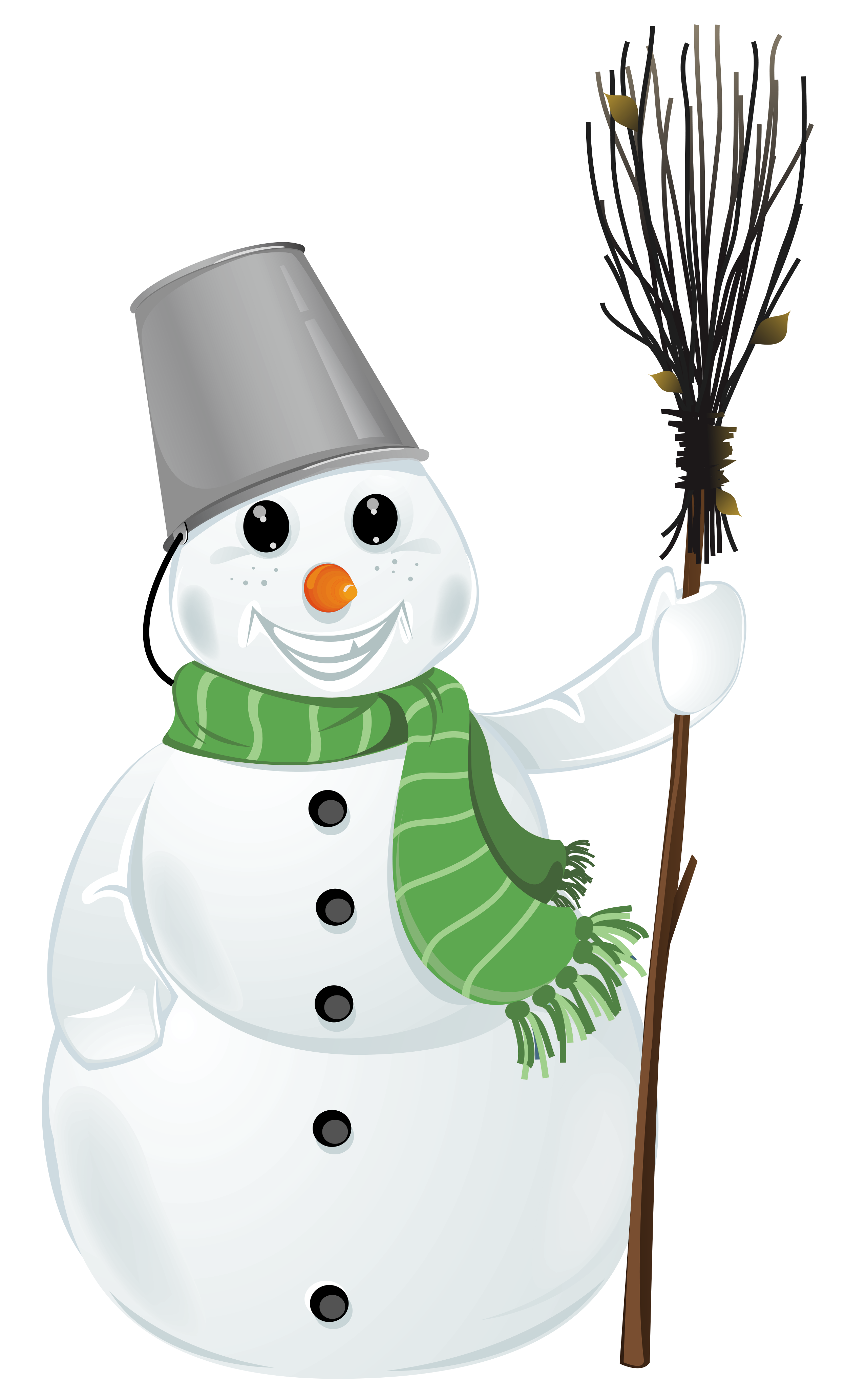 Transparent snowman clipart 0