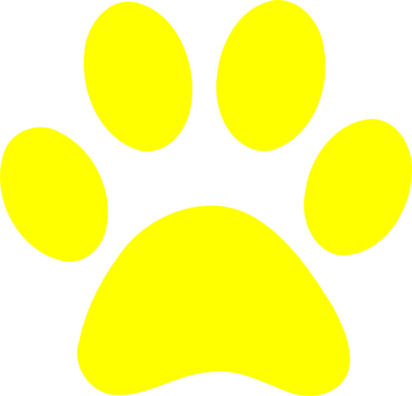 Yellow paw print clip art at clker vector clip art