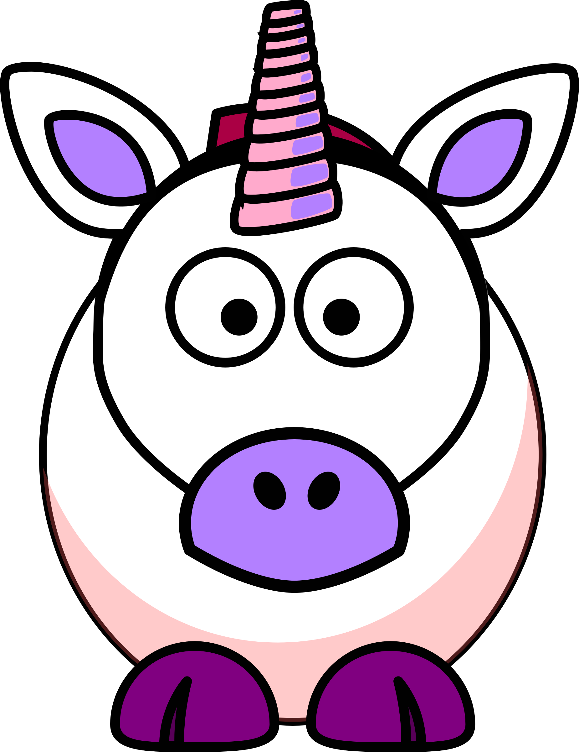 Clipart cartoon unicorn