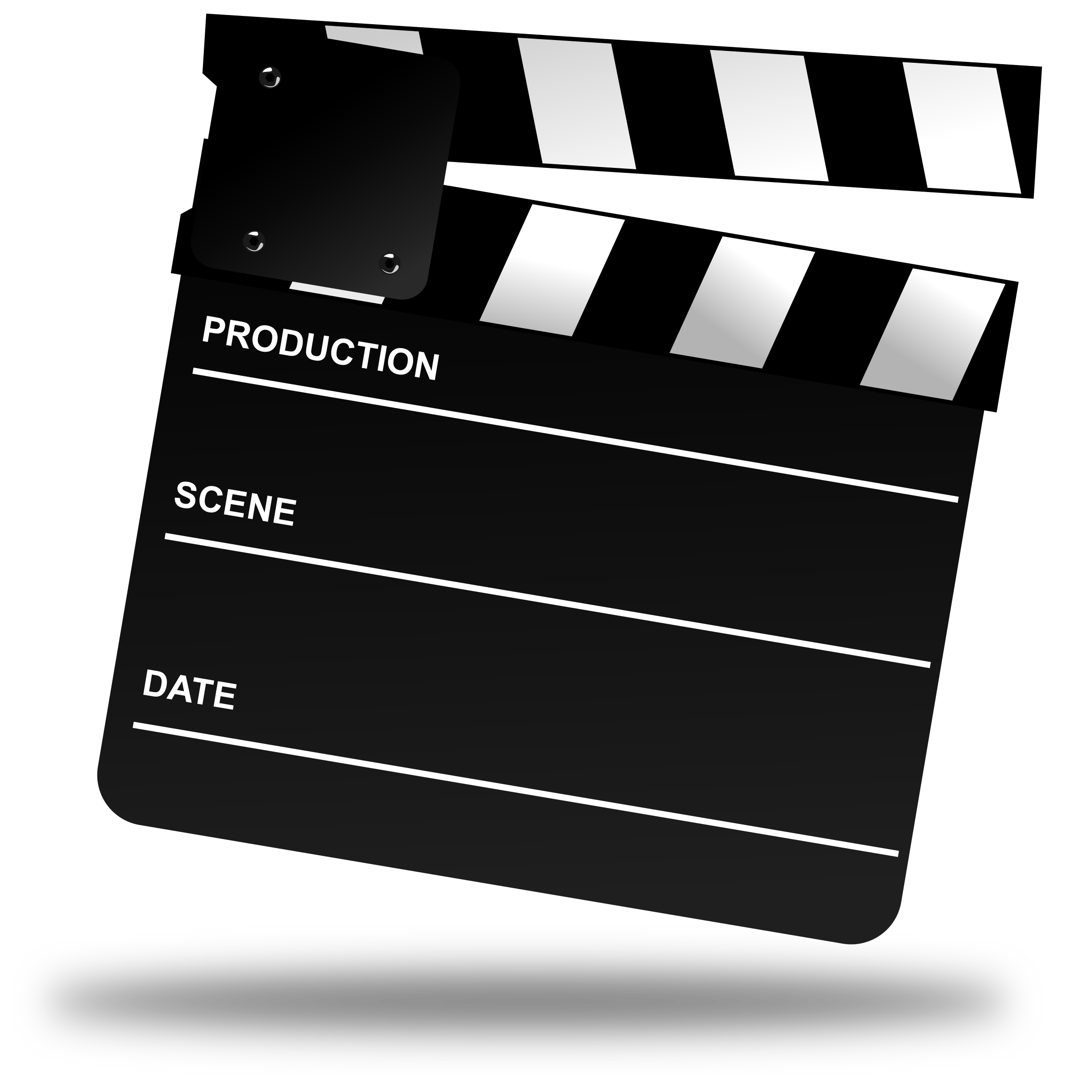 Clipart movie clapper board clipartix