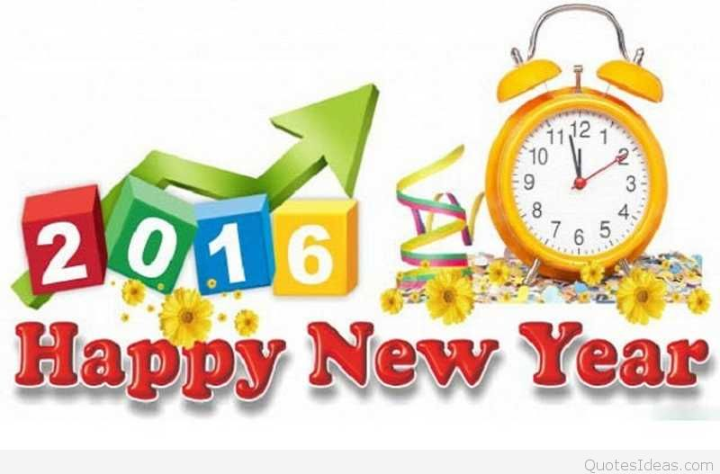 Cute happy new year clock image 6 clipart