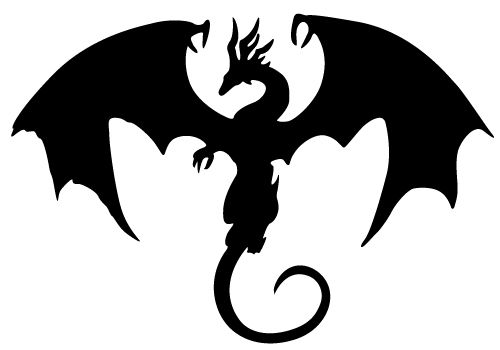 Flying dragon silhouette free clipart images