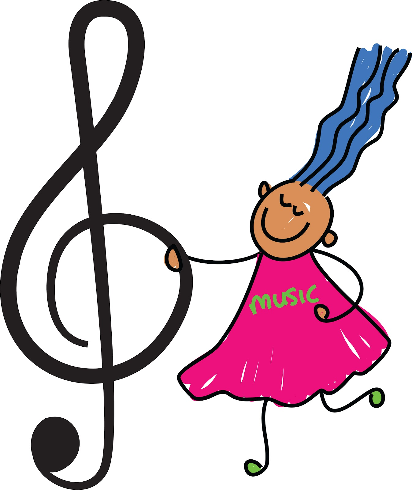 Free music notes clipart image 7