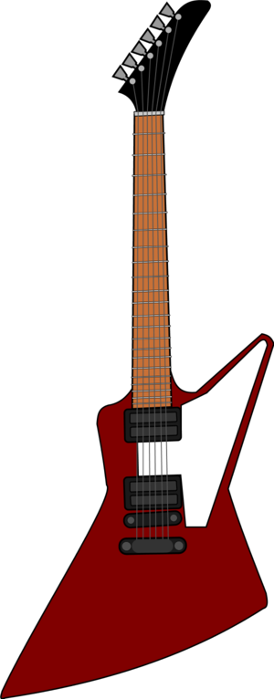 Gibson electric guitar vector clip art