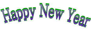 Green purple happy new yearol arched clip art uv associates