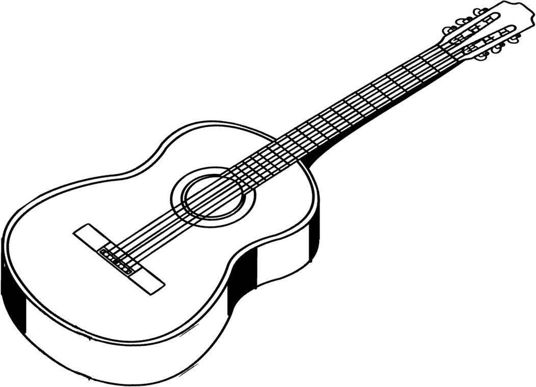 Guitar drawings clipart