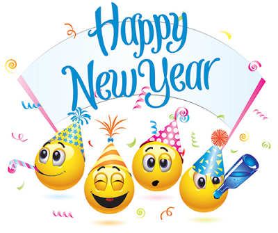 Happy new year animated emoticons for facebook whatsapp clip art