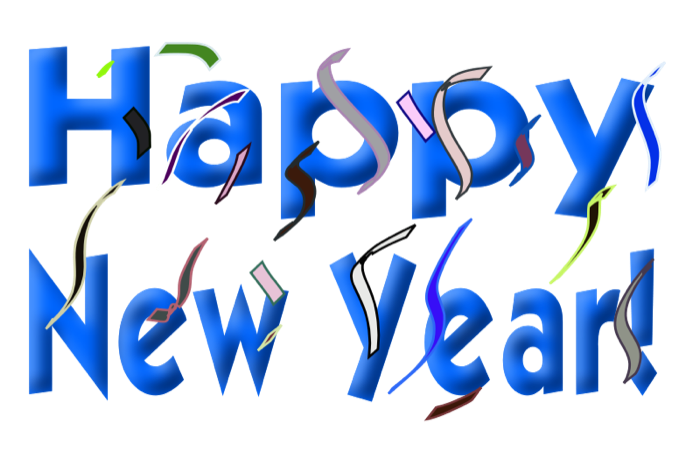 Happy new year clipart and animations