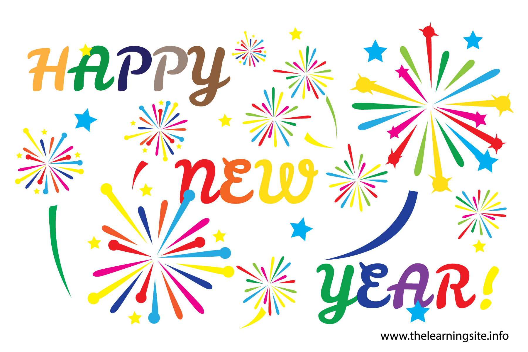 Happy new year clipart free for 5