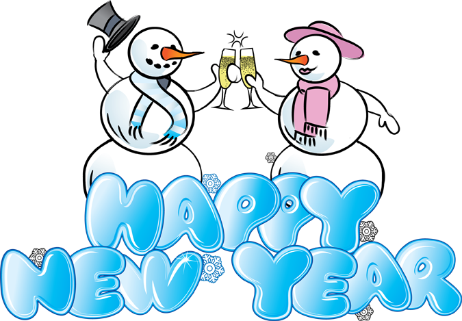 Happy new year clipart free
