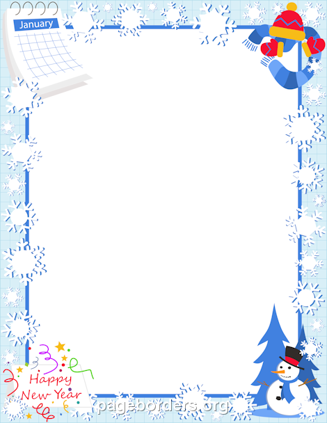 january free winter borders clip art page borders and vector graphics