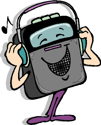 Listening to music clip art 2