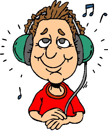 Listening to music clip art 3