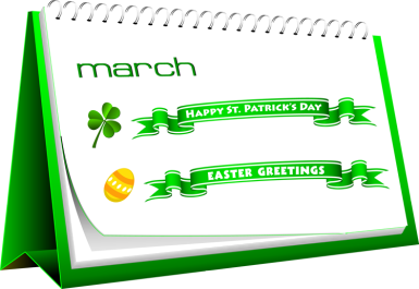 March holidays events and occassions clip art