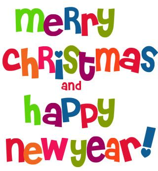Merry christmas and happy new year clipart free 3