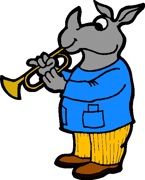 Music animals clip art 3