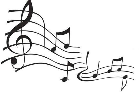 Music notes clipart black and white free clipart 2