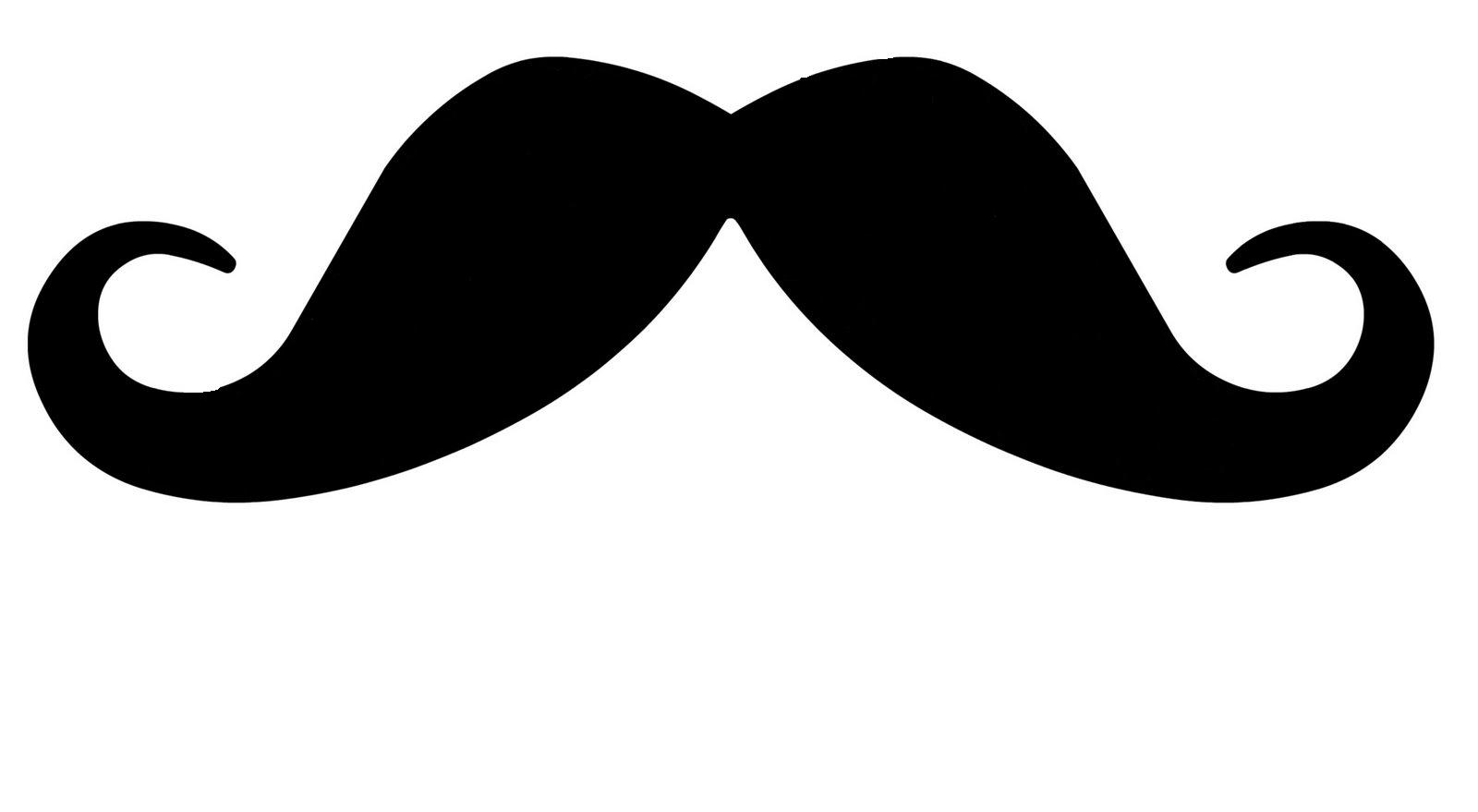 Mustache moustache outline clipart