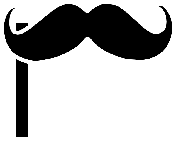 Mustache on a stick clip art at clker vector clip art