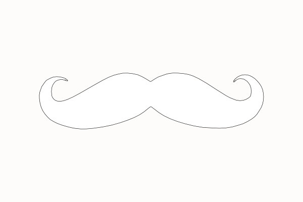 Mustache outline clipart clipart kid