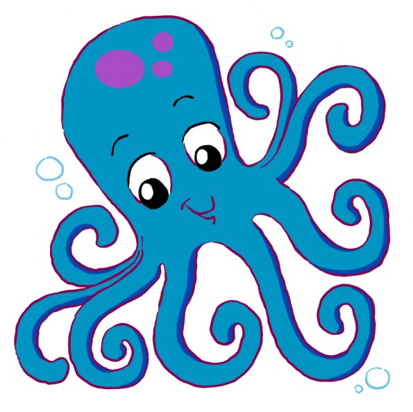 Octopus clipart illustrations 2 octopus clip art vector image