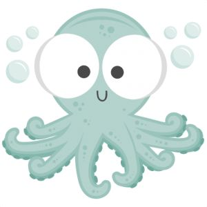 Octopus ocean clipart sea digital clip art printable under the sea