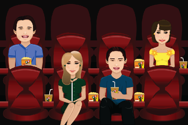 People watching movie clipart the arts image pbs learningmedia