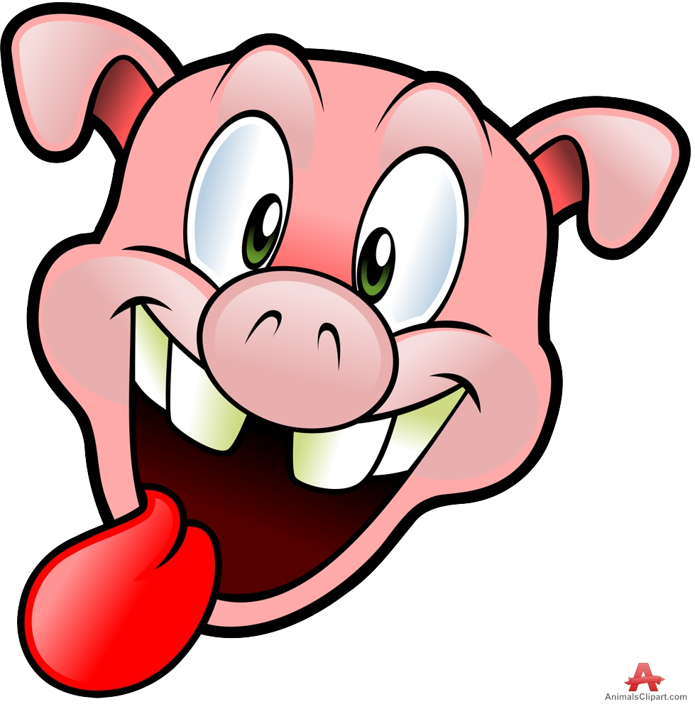 Pig clipart with tongue out free clipart design download