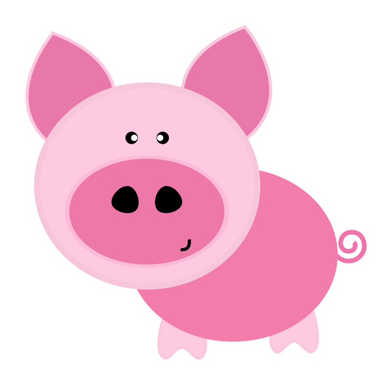 Pig free to use clip art