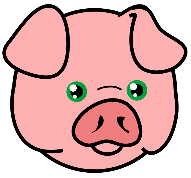 Pig free to use cliparts 3