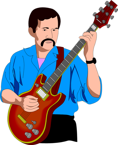 Playing guitar clipart free clipart images