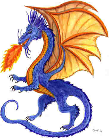 Scary dragon clipart