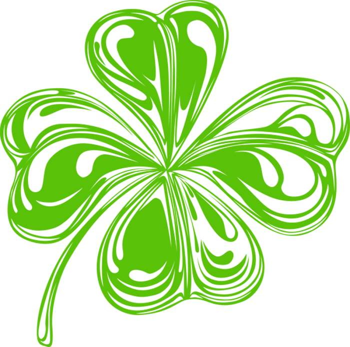 Shamrock clip art black and white free clipart