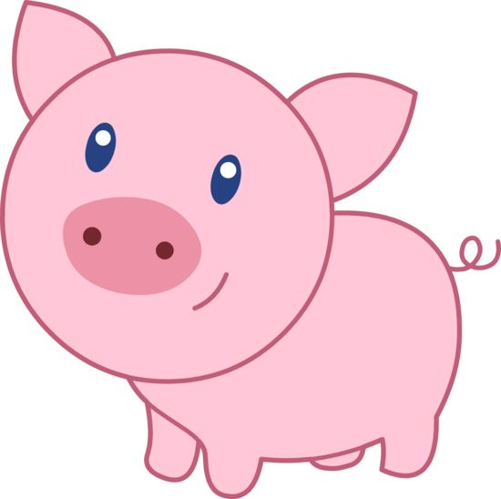 Sweetclipart cute happy pink pig 0 clipart