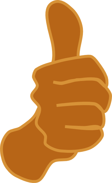 Thumbs up brown clip art at vector clip art image 6