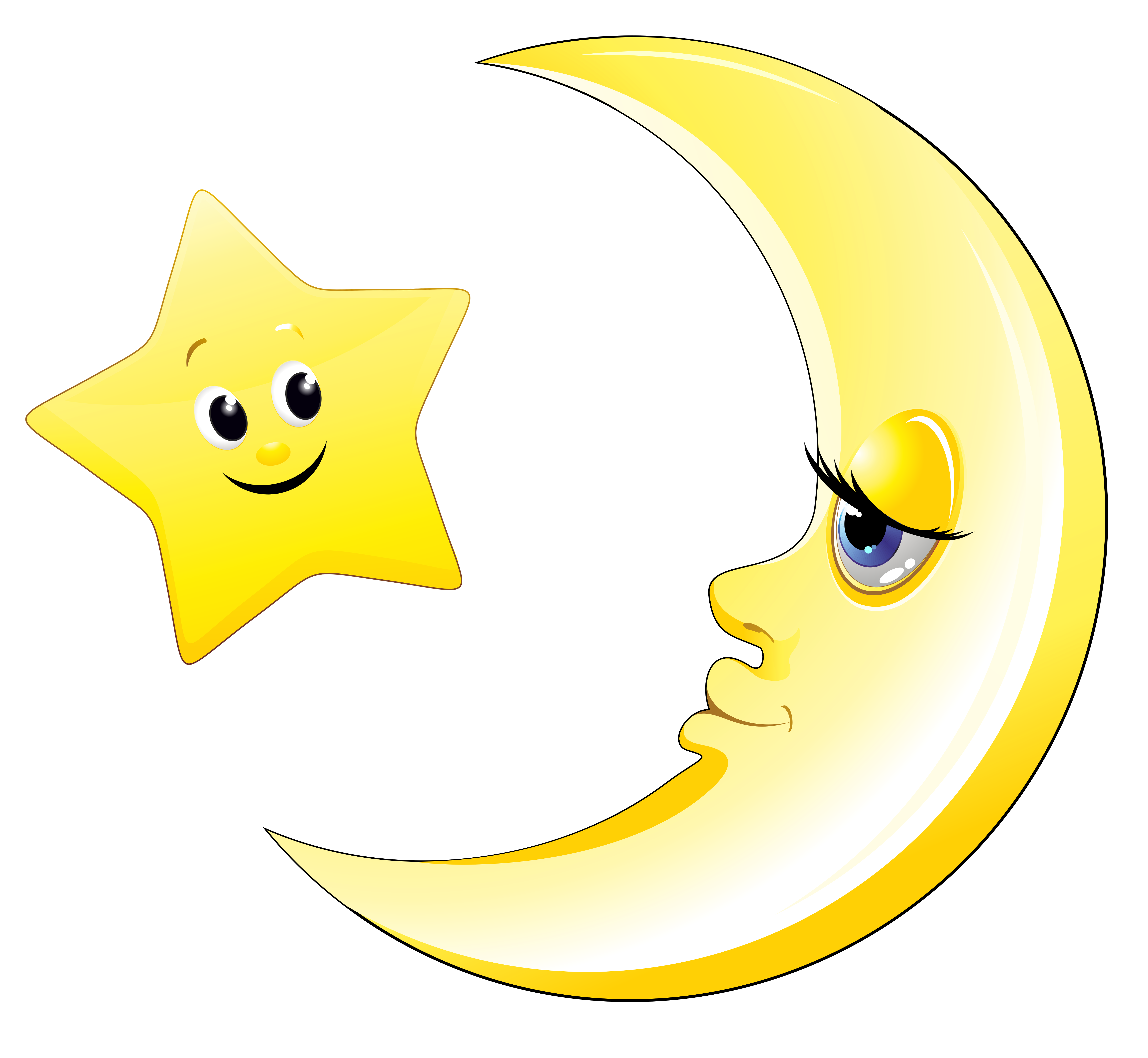 Transparent cute moon and star clipart picture 7 clipartcow