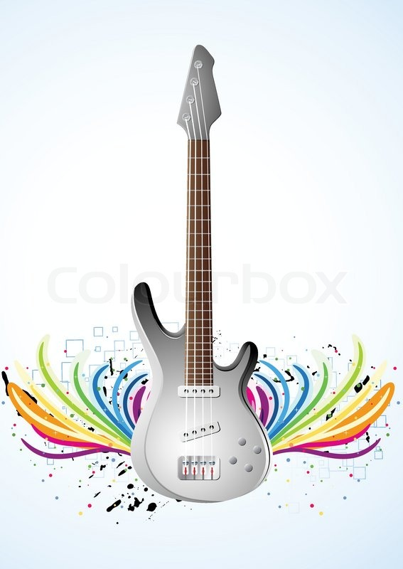 Vector background with guitar clip art vector lour